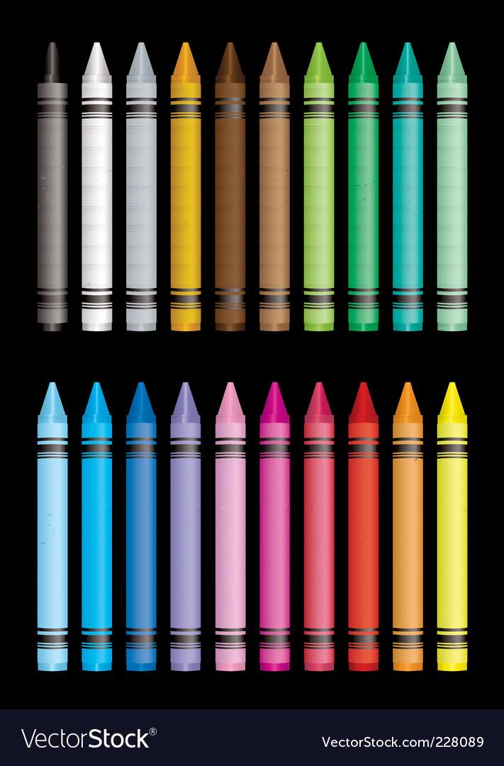 Crayon collection vector image