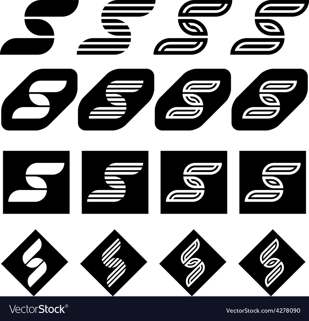 Ornate letter s black symbols royalty free vector image ornate letter s black symbols vector image biocorpaavc