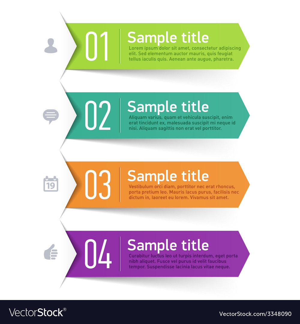 Text box infographics element vector image
