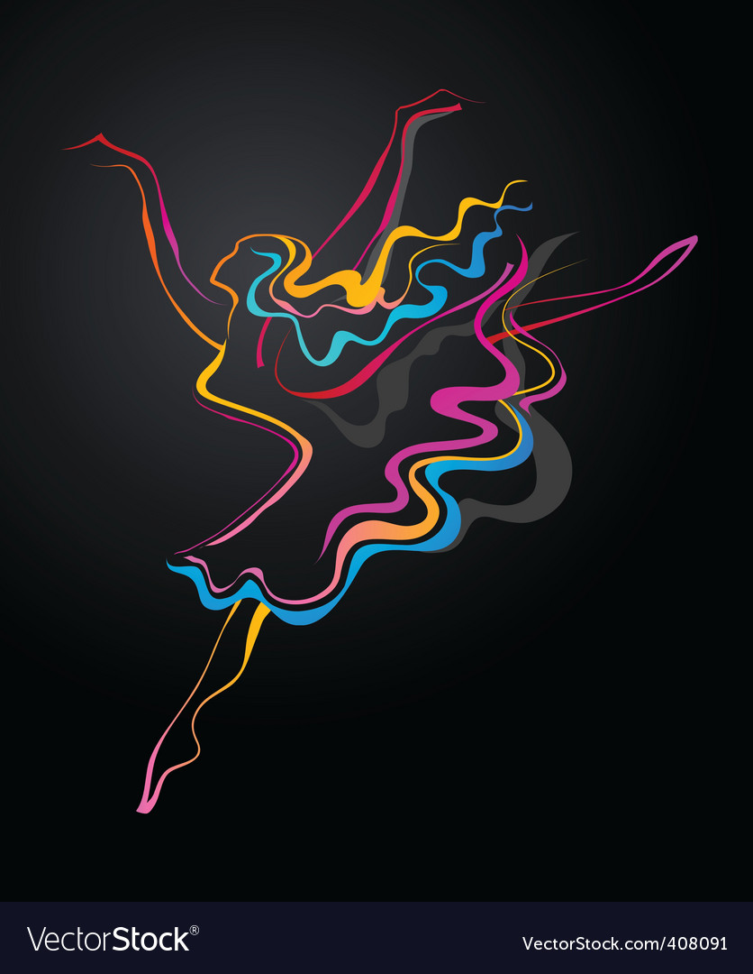Abstract dancer vector image
