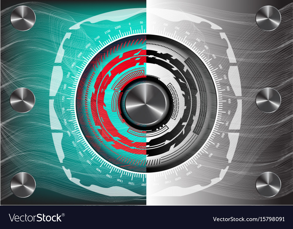 Abstract turquoise and gray background vector image