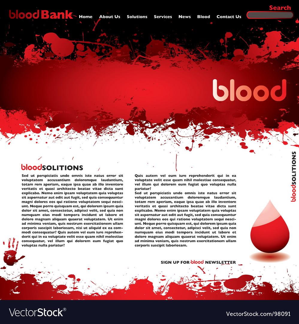 Blood splatter vector image