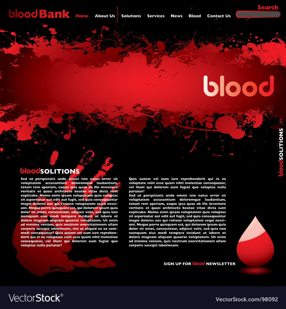 Blood web Vector Image