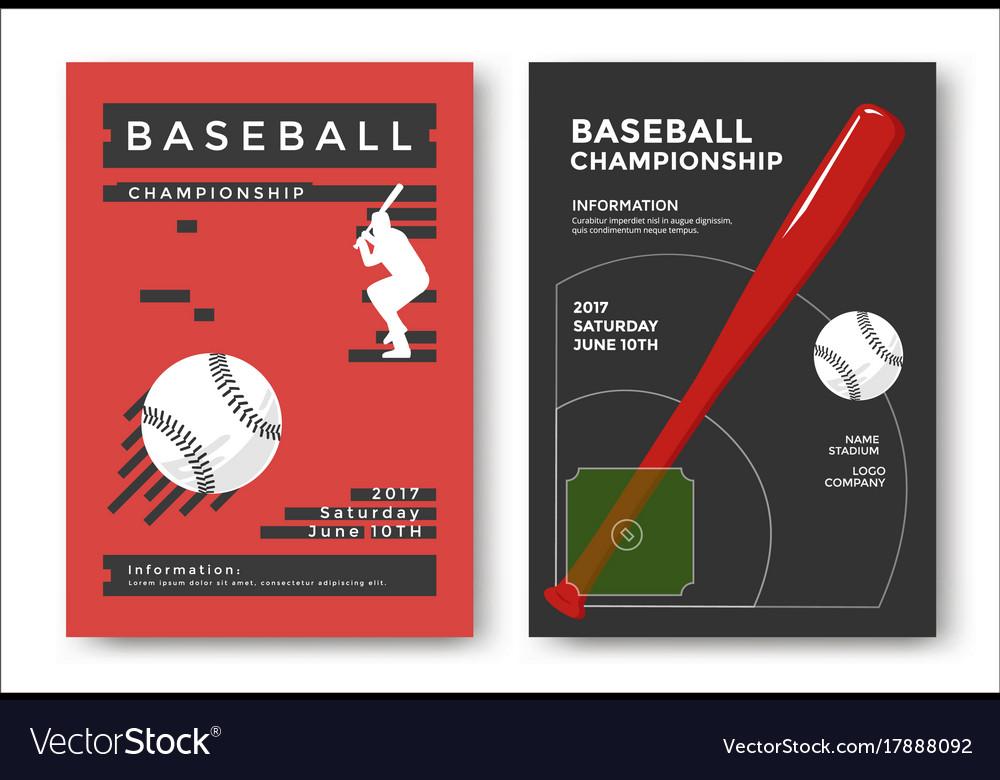 Baseball game poster vector image