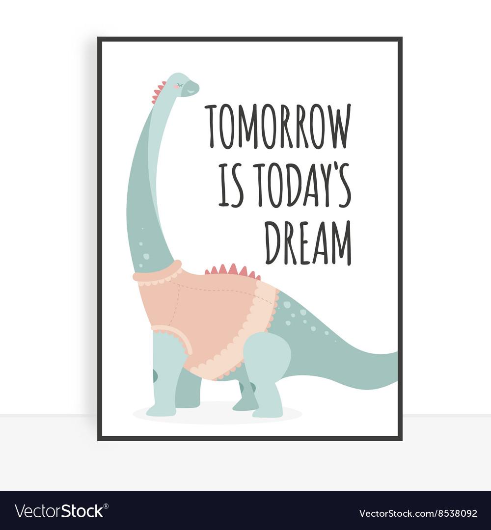 Quote dinosaur vector image