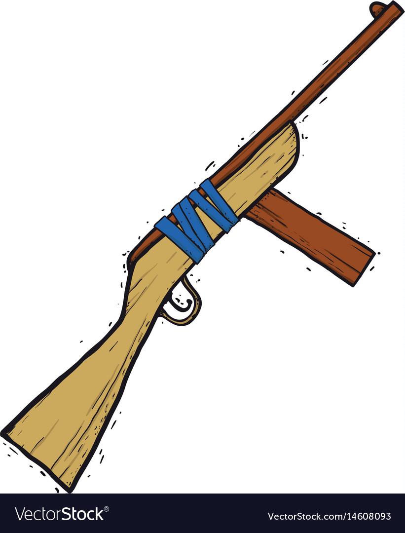 Child wooden gun vector image