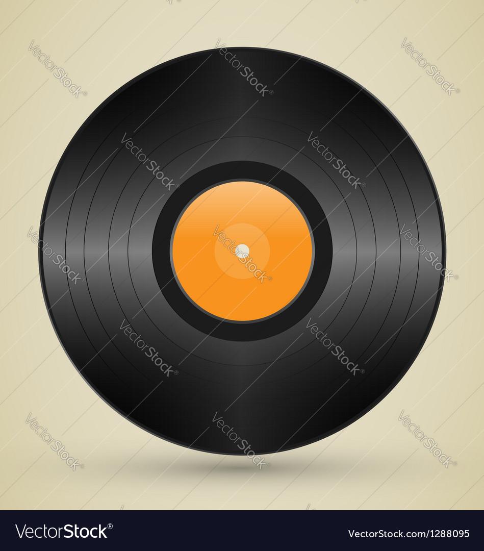 Retro vinyl vector image