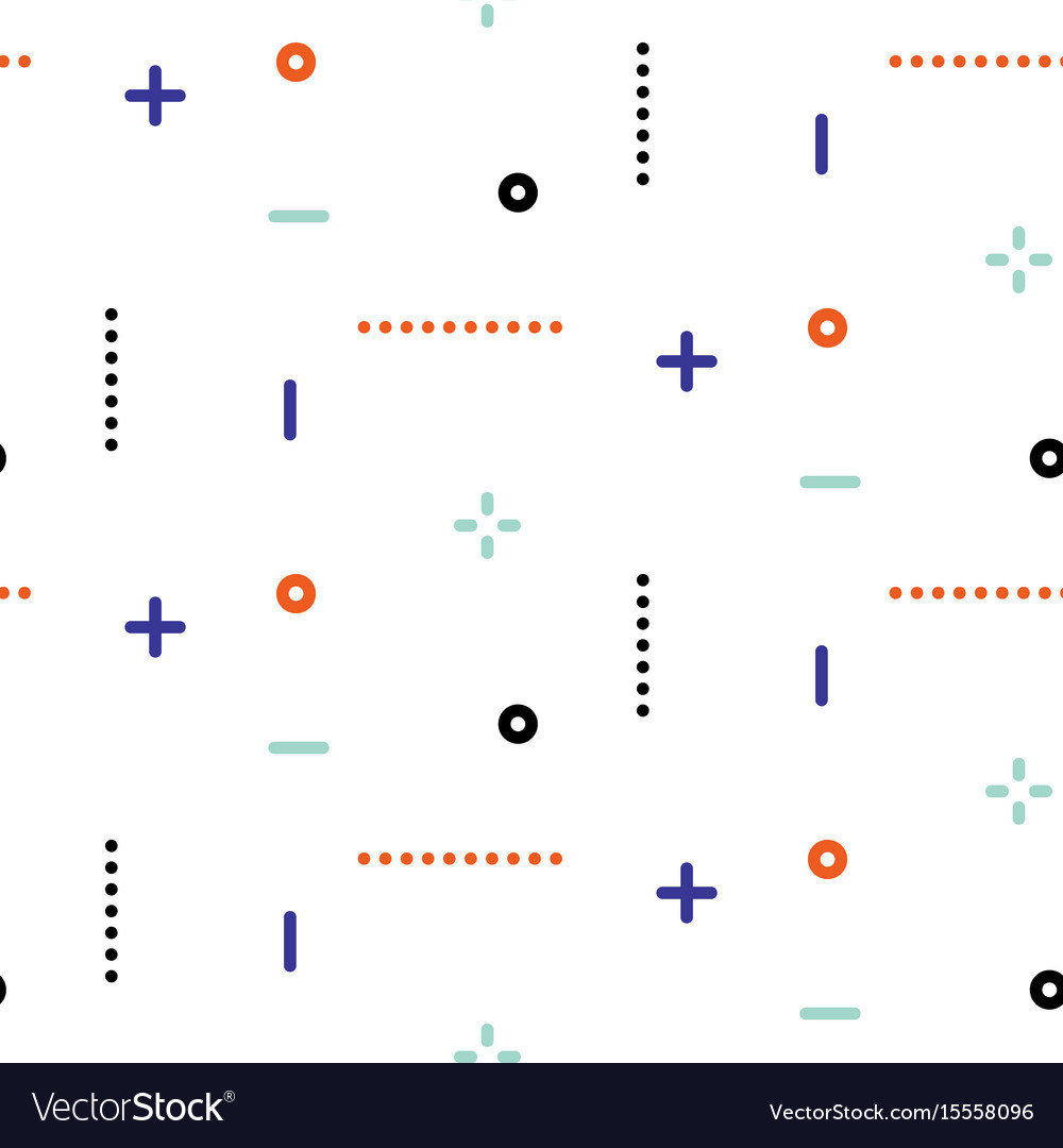 Thin geometric dots and lines seamless vector image