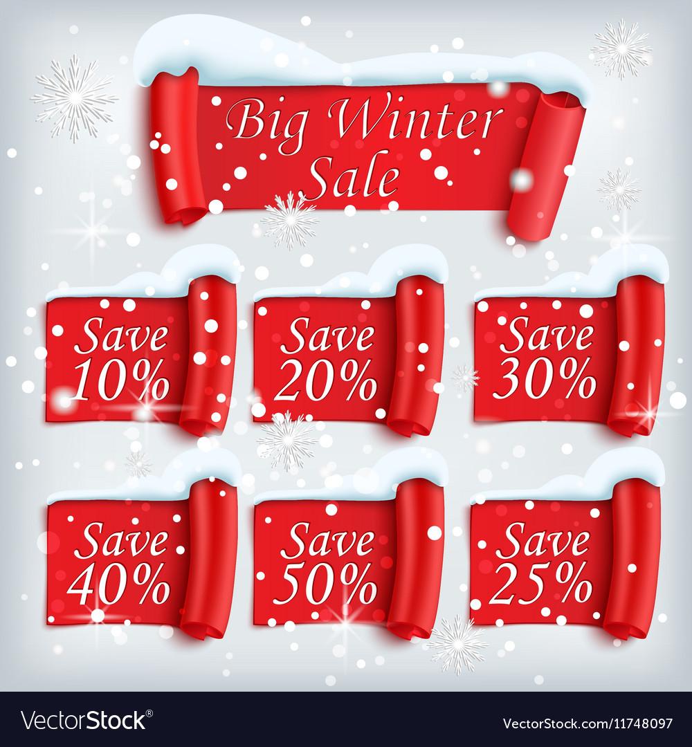 Big Winter sale poster vector image