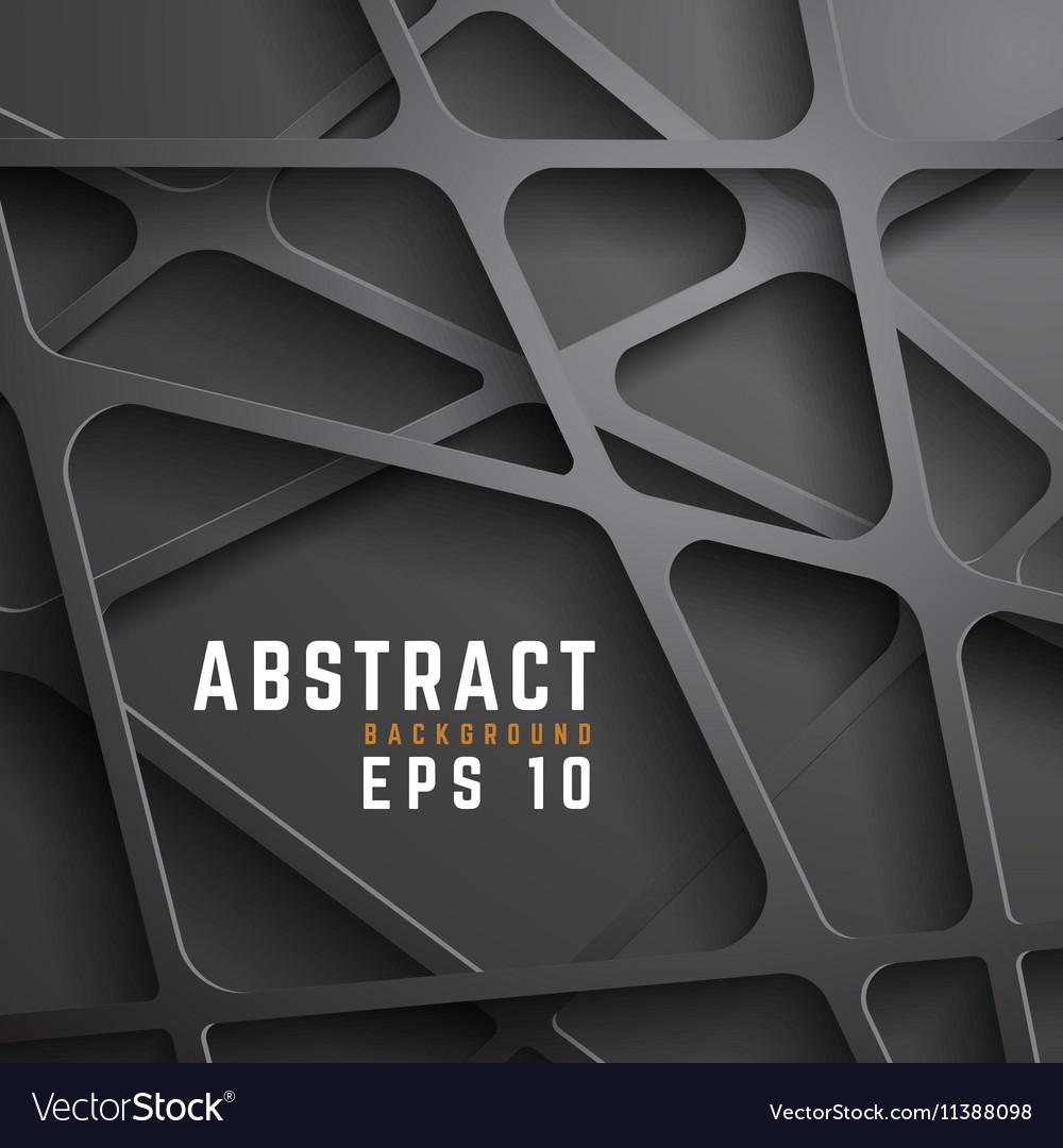 Abstract dark metal mesh background vector image