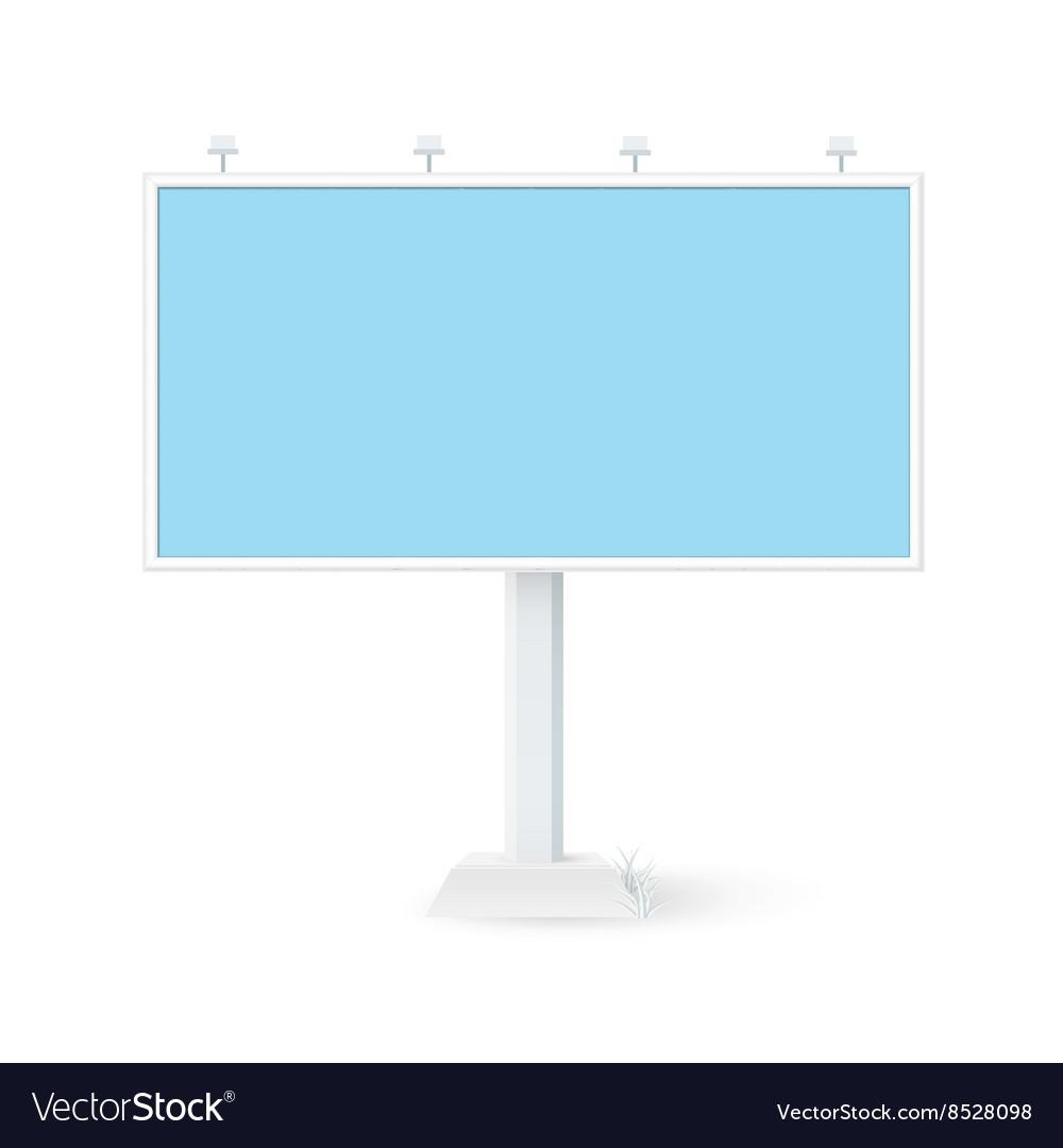 Isolated billboard 3x6 vector image