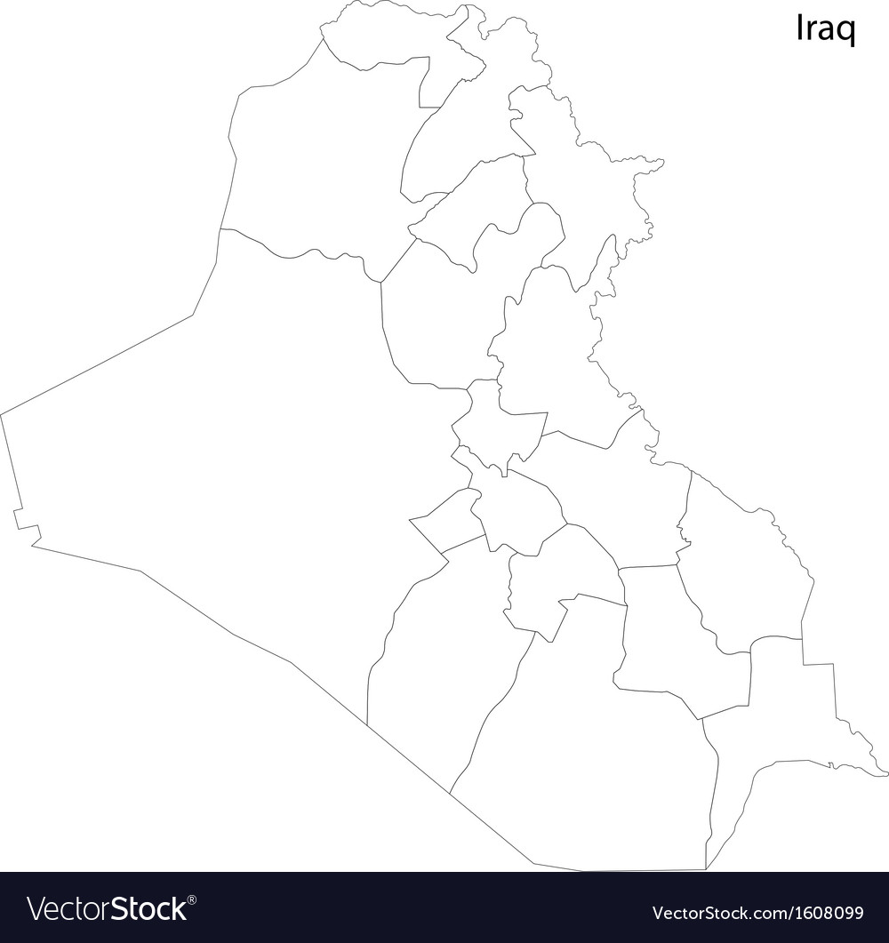 Contour Iraq map vector image