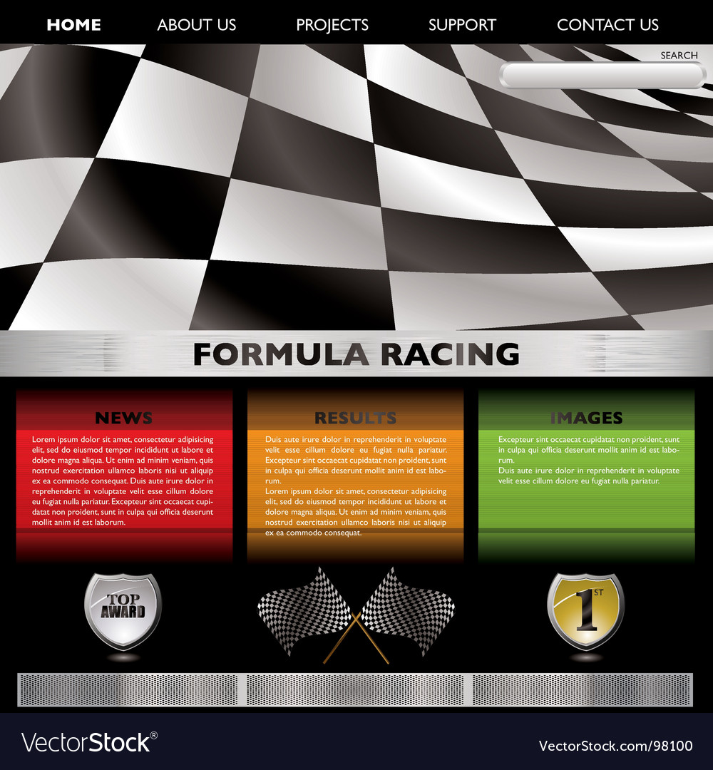Formula racing web vector image