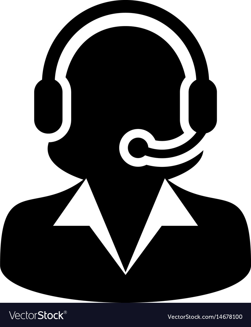 Woman customer care service and support icon vector image