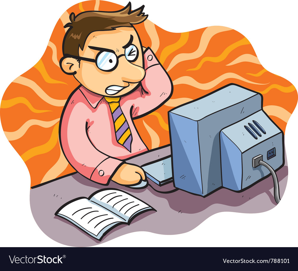 Man working stress vector image