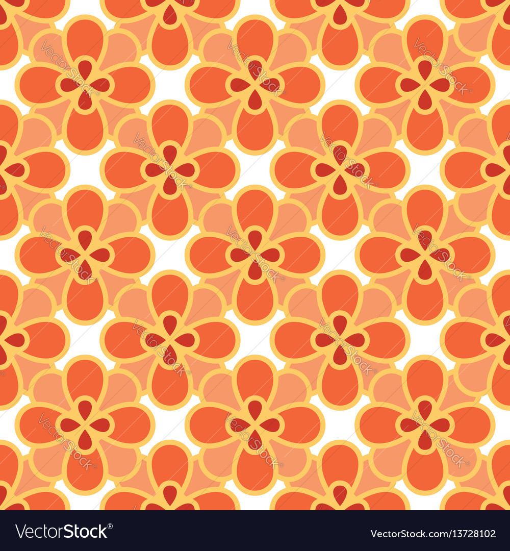 Art abstract flower seamless pattern vector image