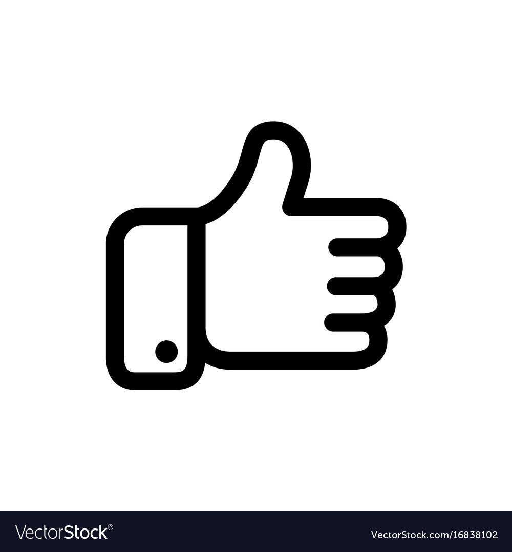 Black thumbs icon vector image