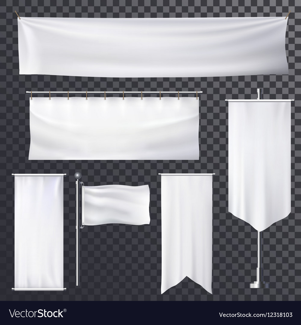 Blank poster or banner hanging frame template vector image