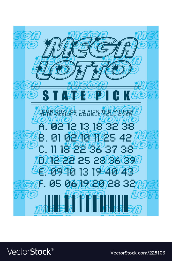 Lottery ticket vector image