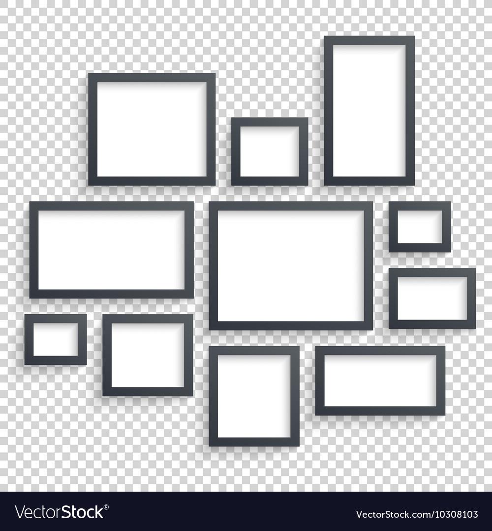 Picture frames Photo art gallery Dark vector image