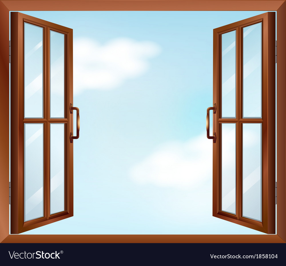 Open Window Clipart Clipart Suggest: A House Window Royalty Free Vector Image