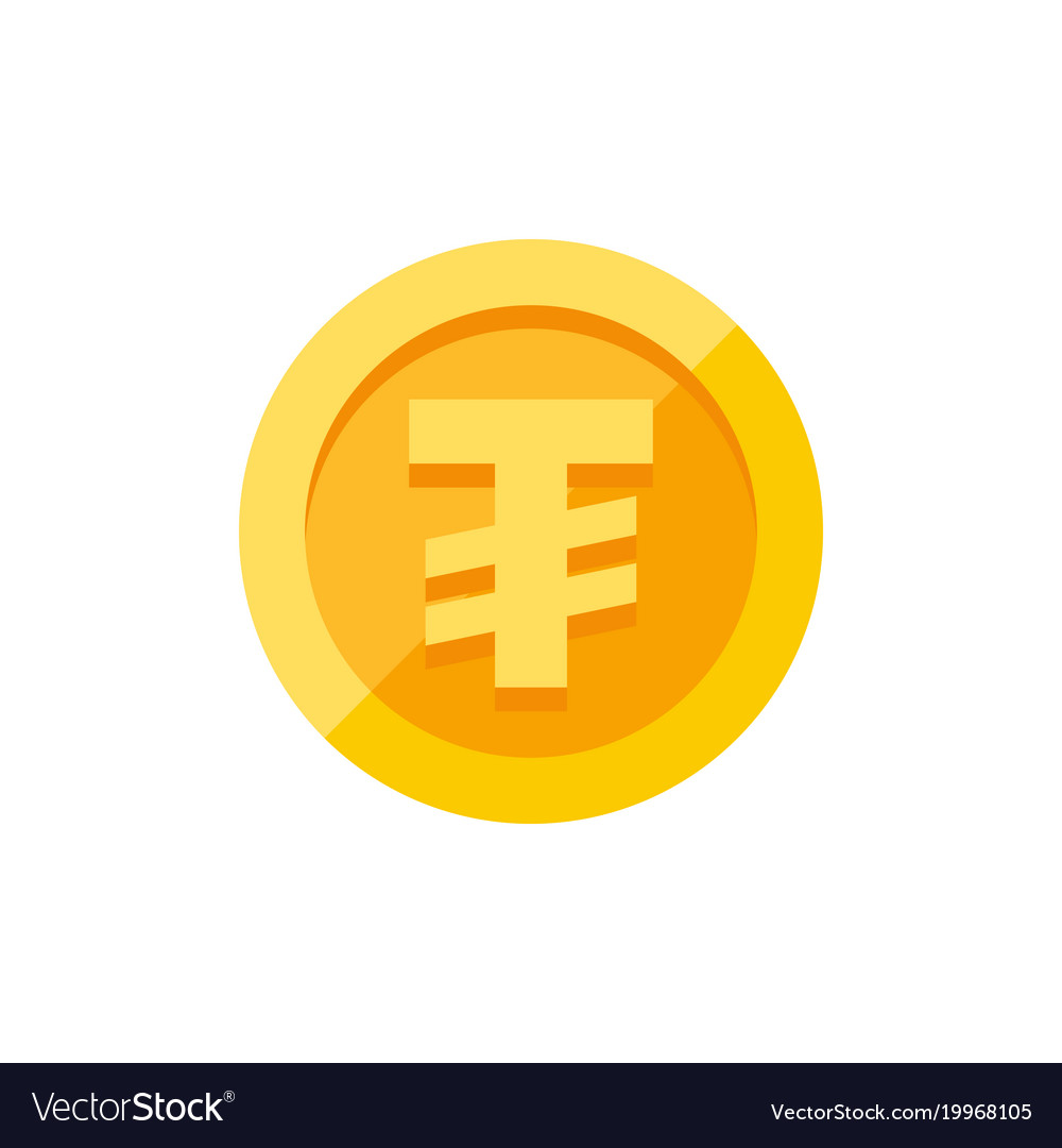 Mongolian tugrik currency symbol on gold coin flat mongolian tugrik currency symbol on gold coin flat vector image biocorpaavc