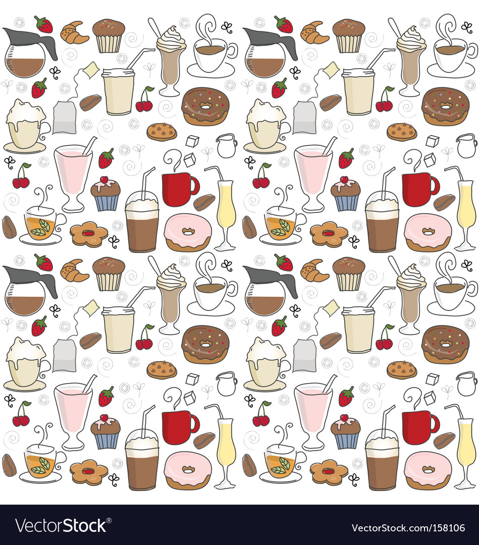 Coffee pattern Vector Image