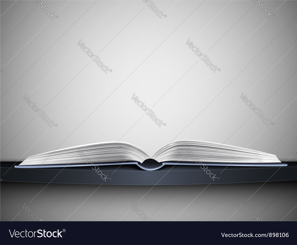 Book on shelf vector image