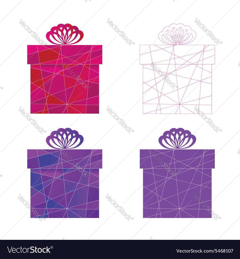 Mosaic box vector image