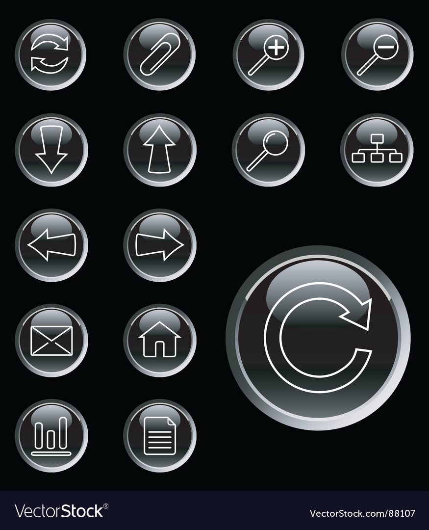 Web icons buttons vector image