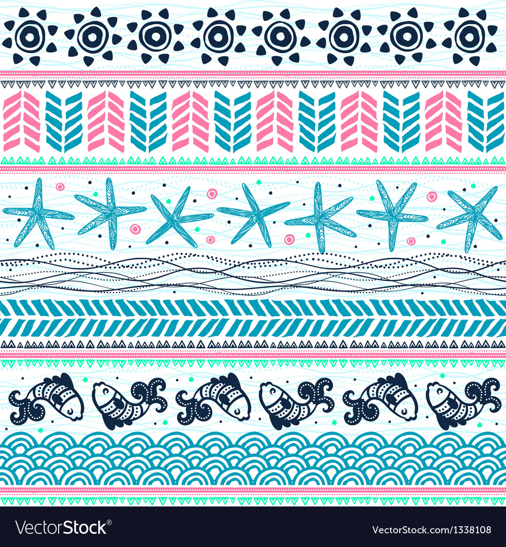 Abstract tribal pattern vector image