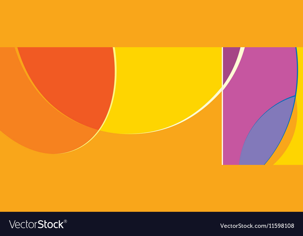Abstract shapes swirl background vector image