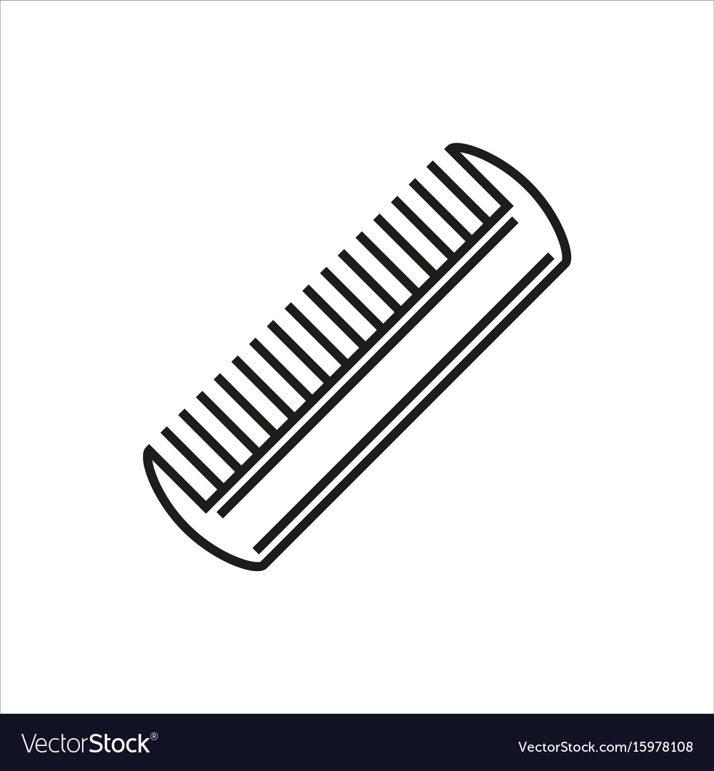 Comb icon isolated on white background vector image