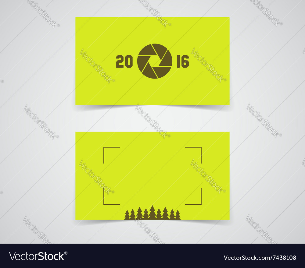 Modern business card template for nature vector image reheart Images