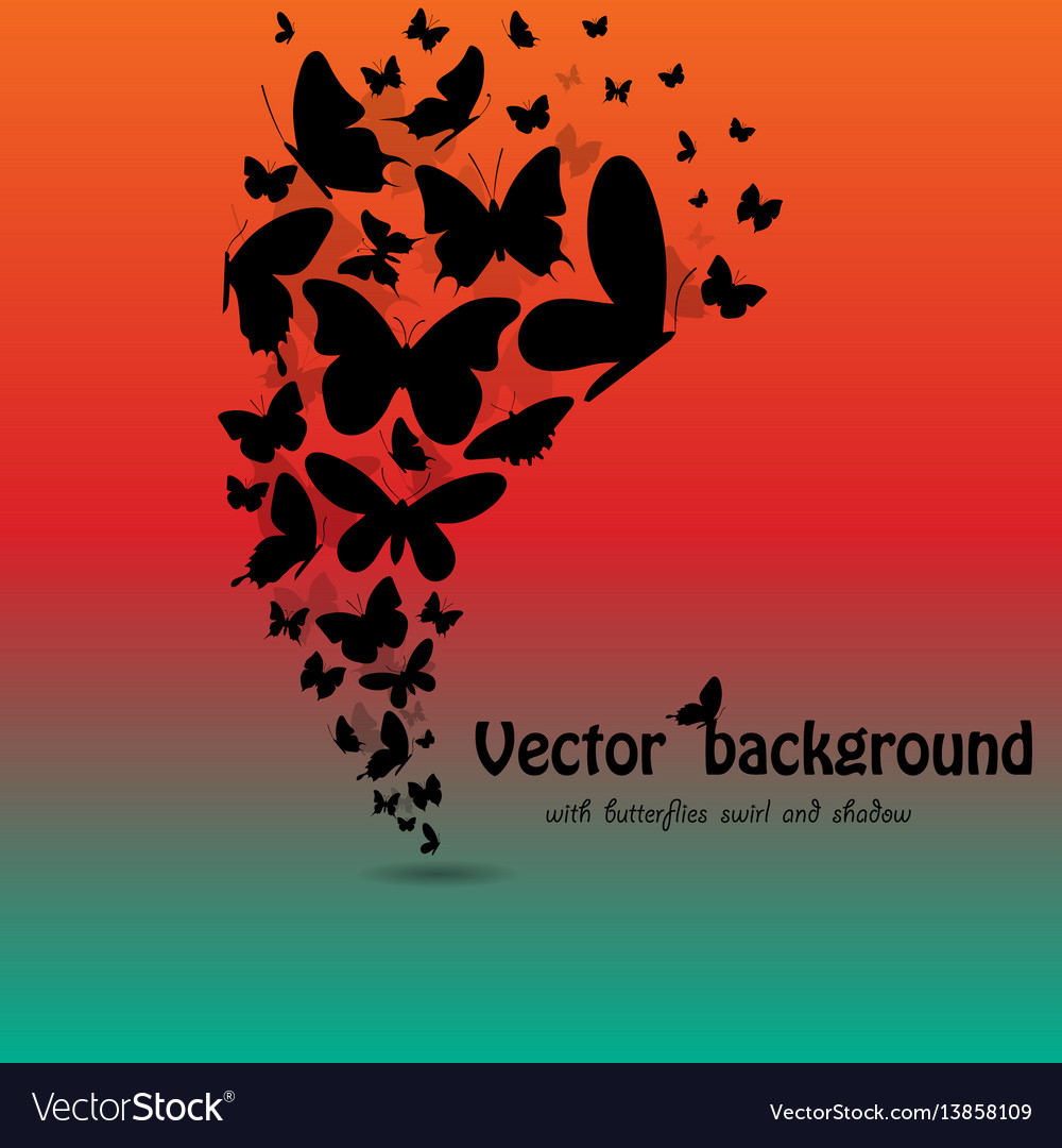 Butterflies background with text vector image