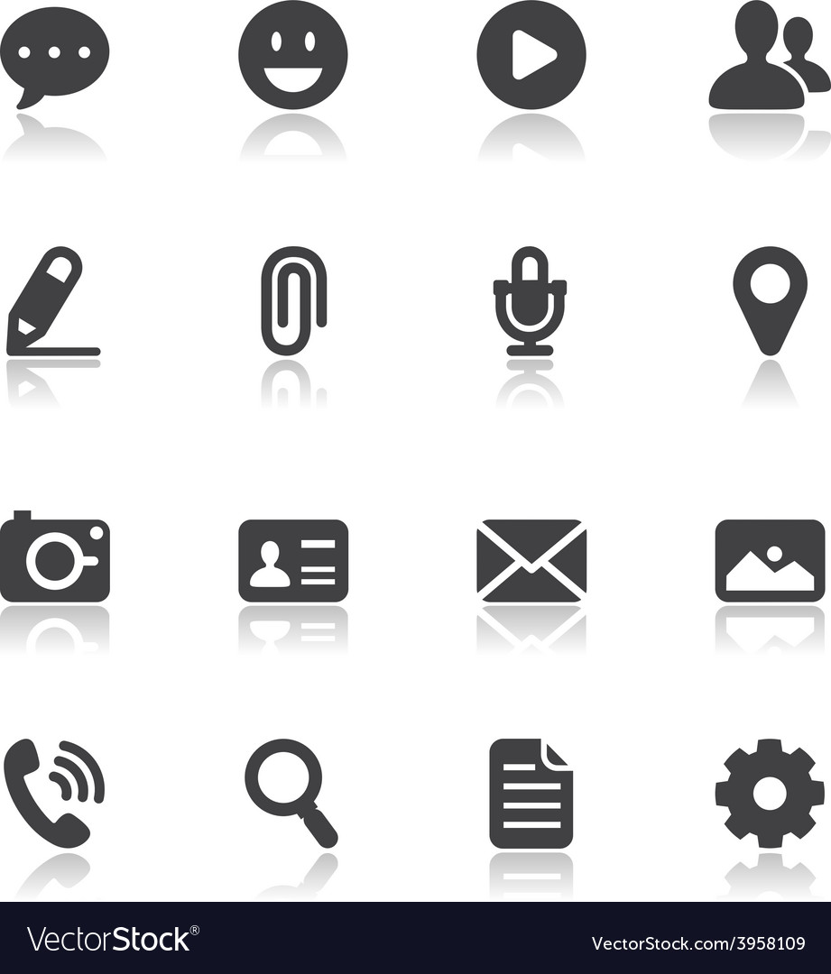 Chat Icons for Application vector image