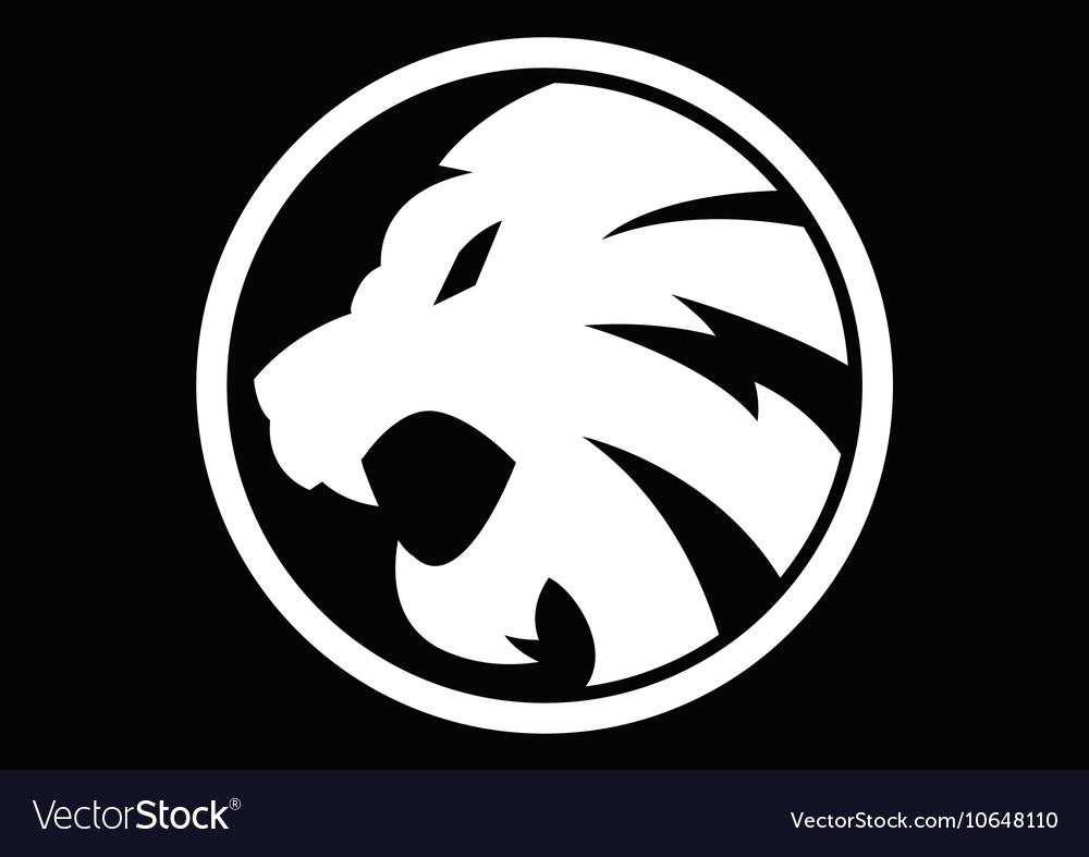 Lion white symbol sign 092016 vector image