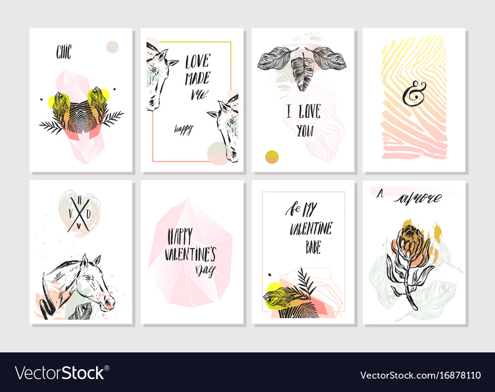 Hand made abstract graphic unusual tribal vector image
