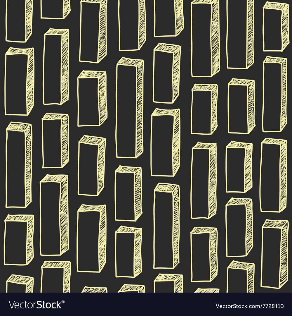 Seamless pattern of hand drawn bricks vector image