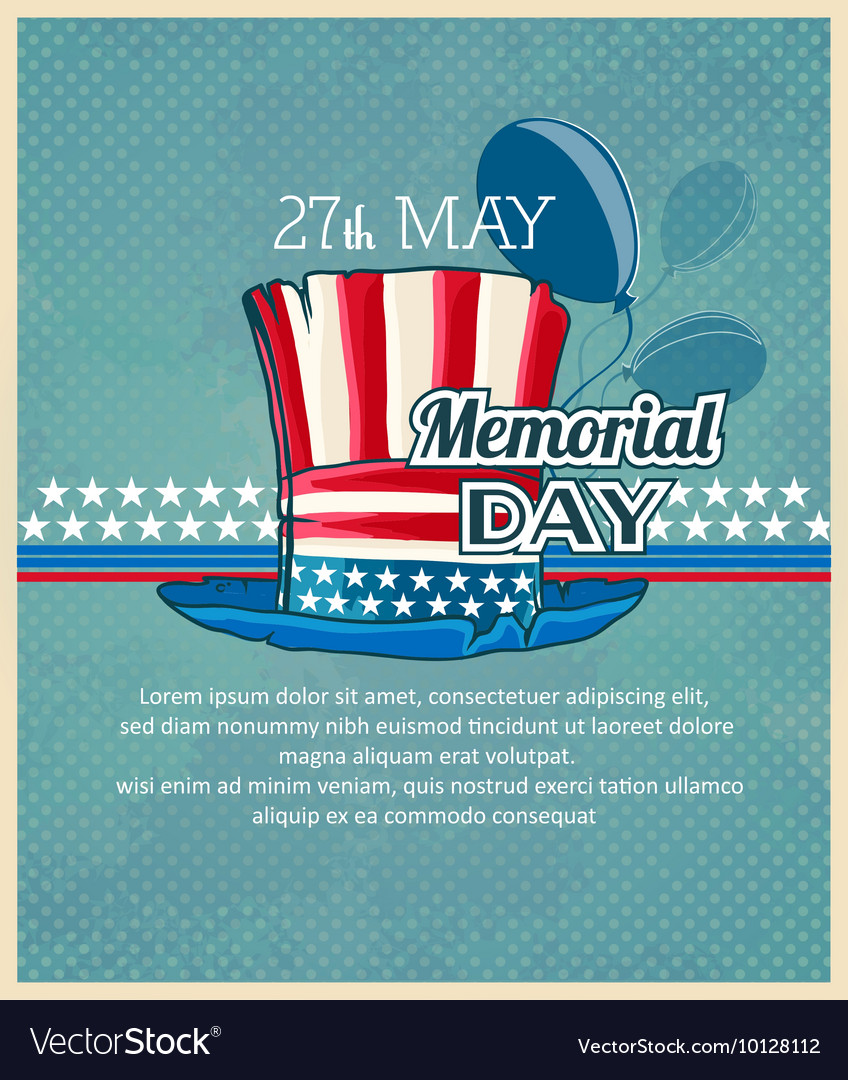 Creative memorial Day Greeting stock