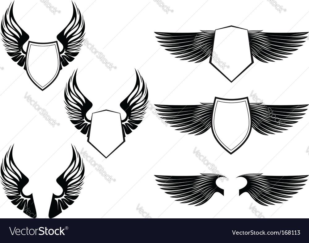Heraldic symbols vector image