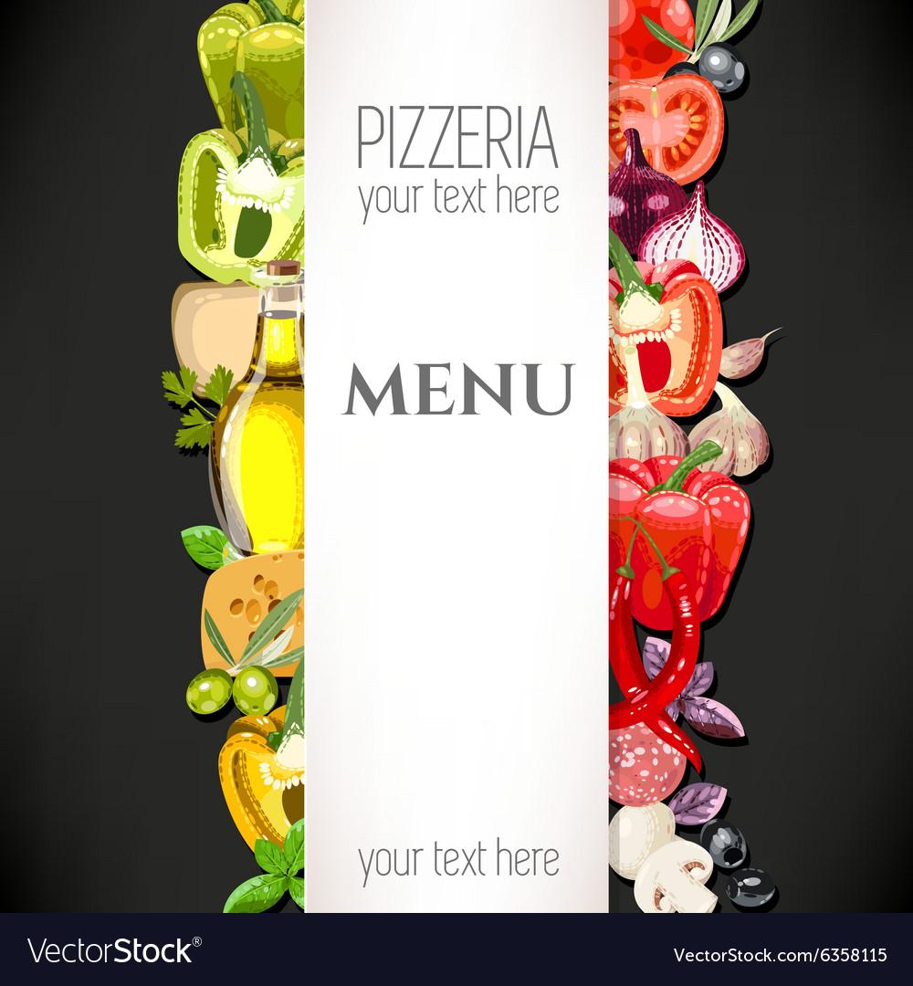 Menu for pizzeria vector image