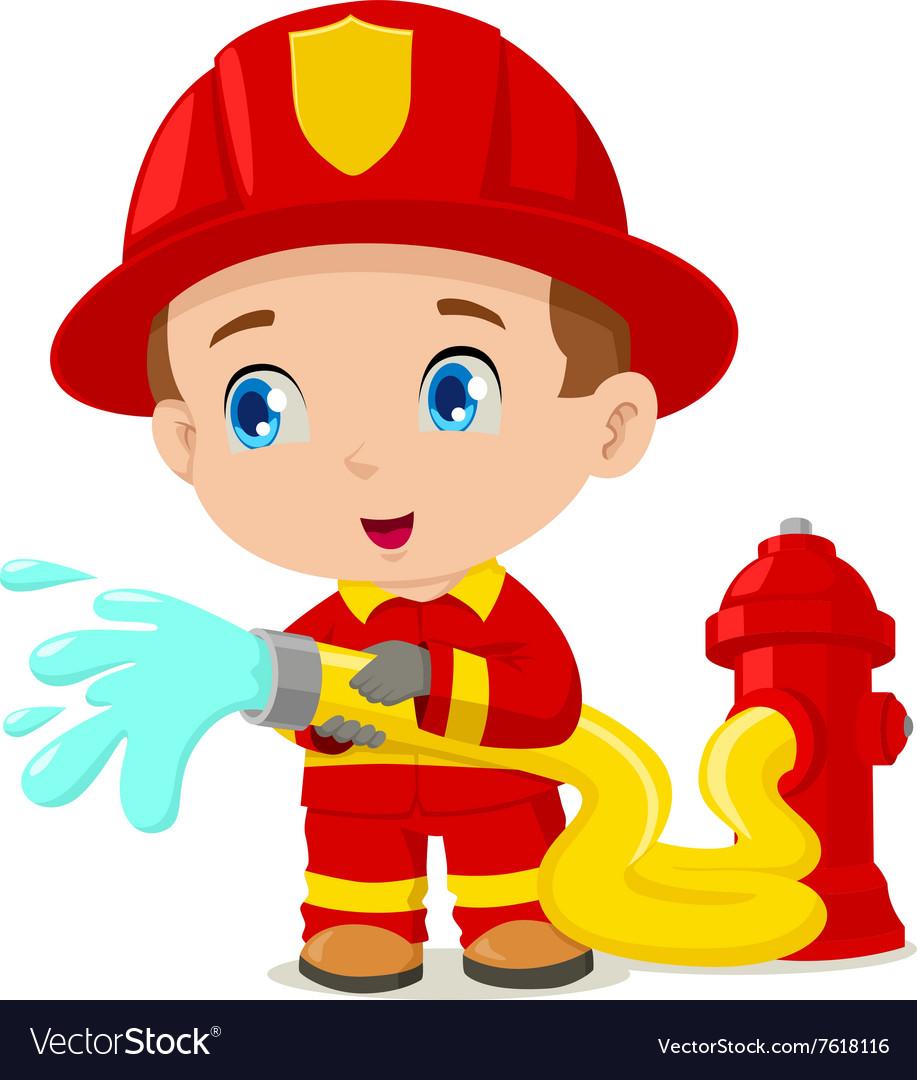 Firefighter Royalty Free Vector Image Vectorstock