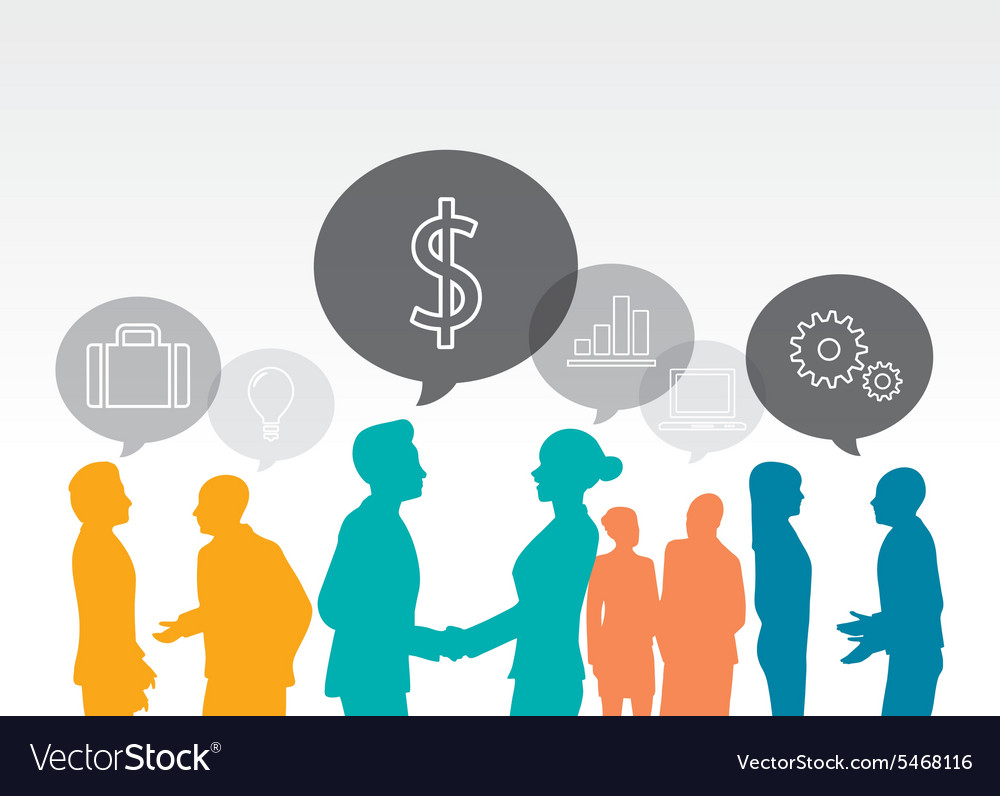 Template of a group of business and office people vector image