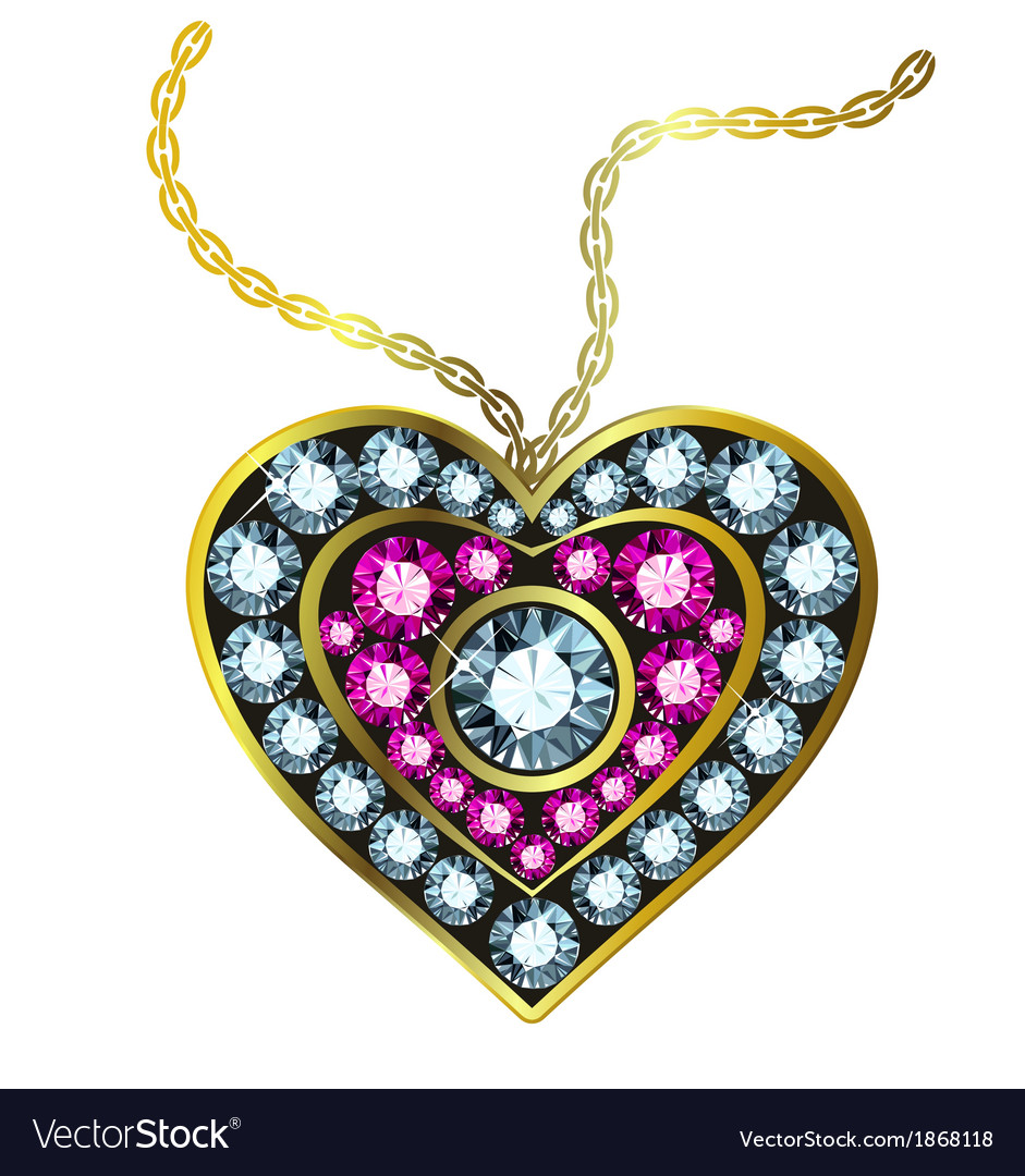 Gem heart pendant royalty free vector image vectorstock gem heart pendant vector image mozeypictures Image collections