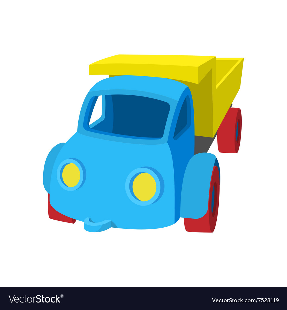 Toy truck cartoon icon vector image