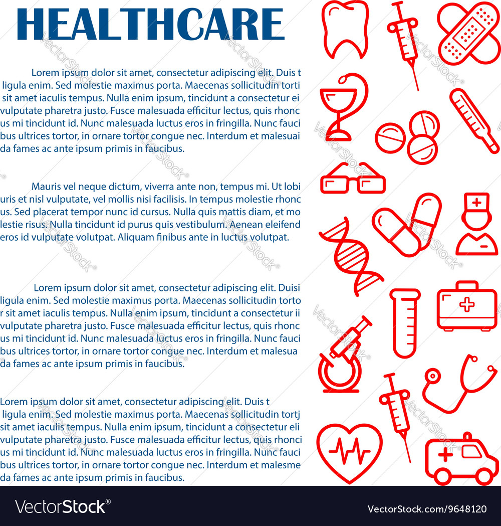 Medical banner for infographics design template vector image