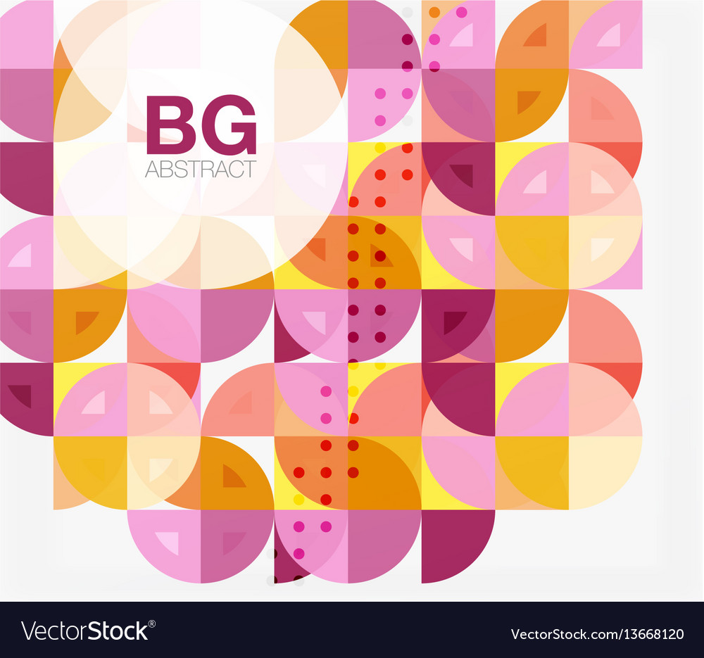 Modern geometric circle abstract background vector image