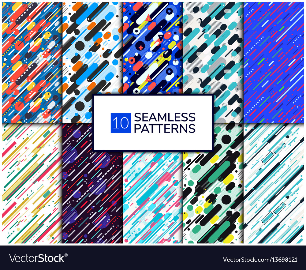 Set diagonal pattern vector image