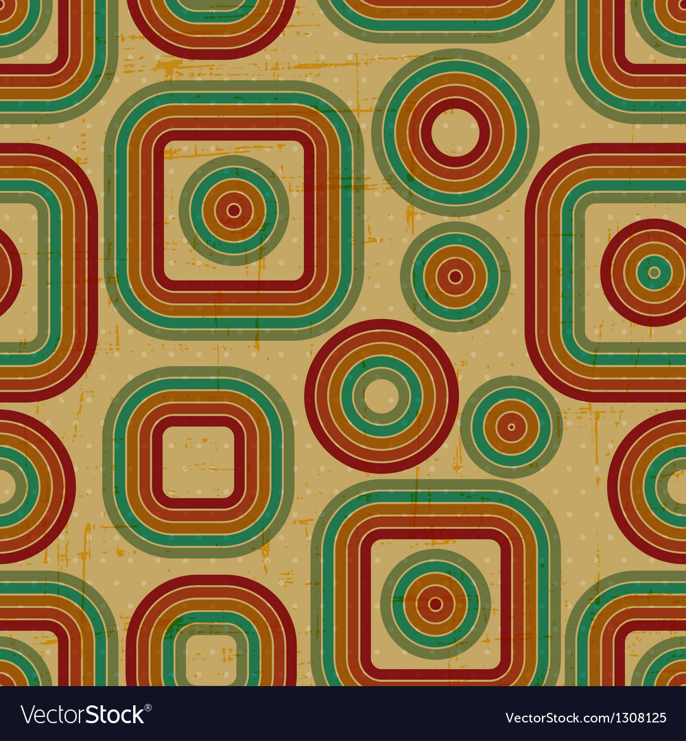 Retro grunge seamless pattern Vector Image